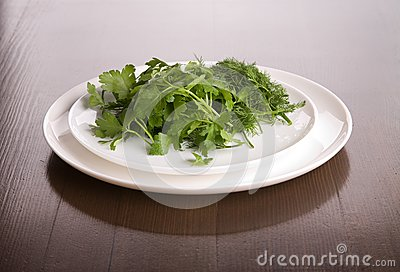 Dish with parsley and fennel