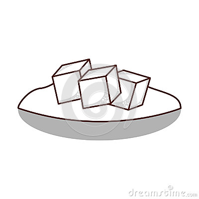 Free Dish With Sugar Cubes Stock Photography - 95930132