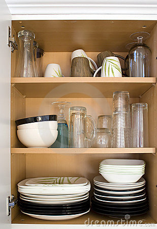 Free Dishes In The Cupboard Royalty Free Stock Photo - 5421795