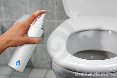 Disinfecting a toilet