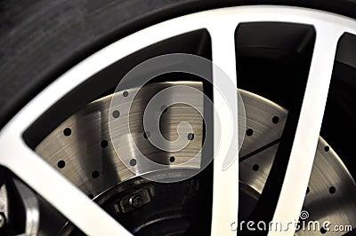Disk brake closeup