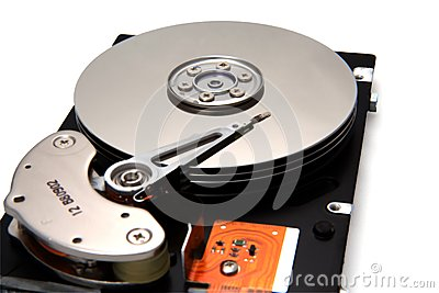 Disk Drive on White Background