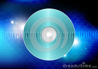 Disk technology concept background