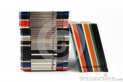 Disketten in den Stapeln