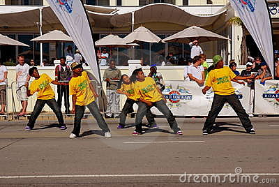 Diski dance group South Africa Editorial Stock Image