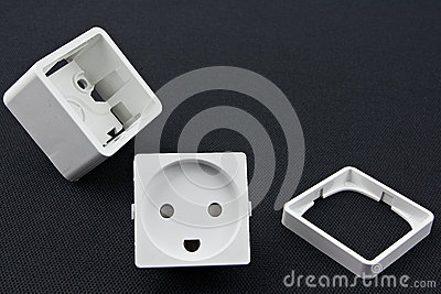 Dismantled electrical outlet