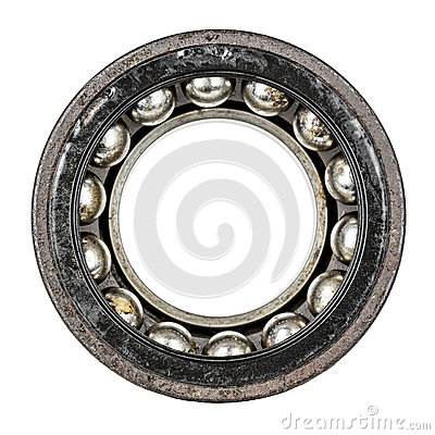 Free Dismantled Old And Very Worn Ball Bearing Stock Photography - 38230792