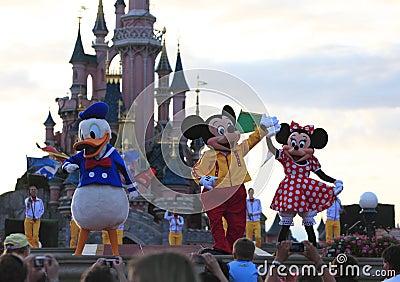 Disney χαρακτήρων Εκδοτική Φωτογραφία