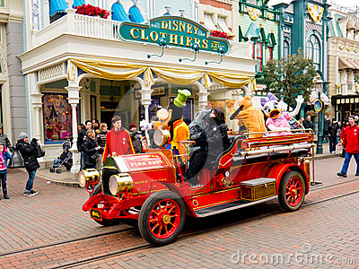 Disney all star fire engine, Editorial Stock Image