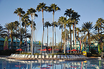 Disney All-star Sports Resort in Orlando Editorial Stock Photo