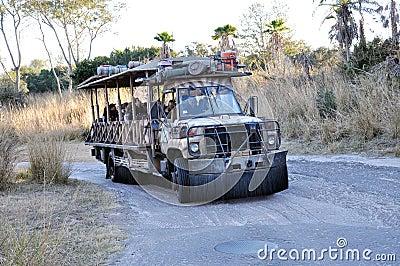 Disney Animal Kingdom Transportation Editorial Stock Image