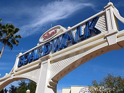 Disney Boardwalk Editorial Stock Photo