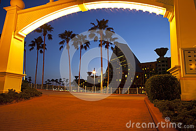 Disney Boardwalk to Dolphin Resort Editorial Stock Photo