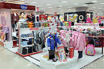 Disney Boys And Girls Clothes Shop Editorial Image - Image: 17480395