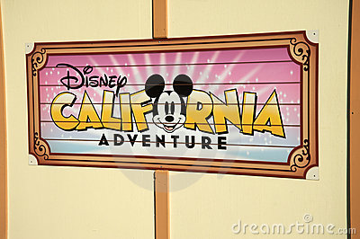 Disney California Adventure Editorial Image