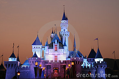 DISNEY CASTLE Editorial Stock Photo