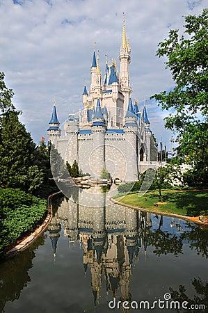 Disney Castle in Orlando Editorial Stock Photo
