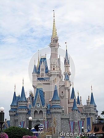 Disney Castle Orlando Florida Editorial Photography