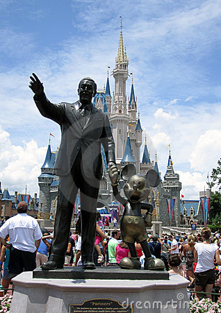 Disney Castle Orlando Florida Editorial Stock Image