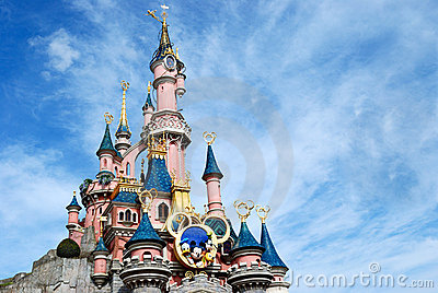 Disney castle paris Editorial Stock Photo