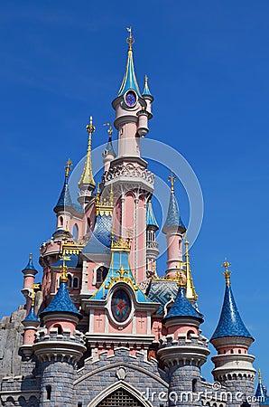Disney Castle in Paris France Editorial Photo