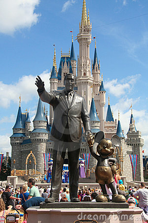 Disney Castle and Walt Disney Editorial Image
