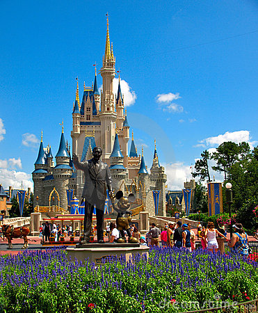 Disney Castle Walt Disney World Editorial Stock Photo