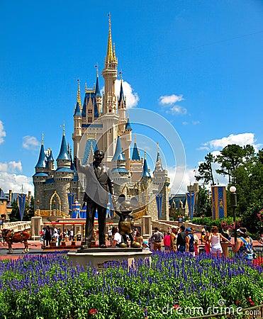 Disney Castle Walt Disney World Editorial Stock Photo
