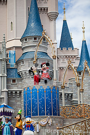 Disney Characters Castle Editorial Photography