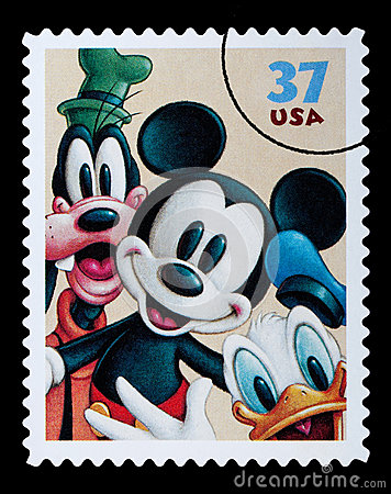 Free Disney Characters Postage Stamp Royalty Free Stock Images - 40698609