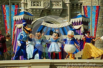 Disney Characters on Stage Editorial Image