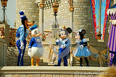 Disney Characters on Stage Editorial Stock Image