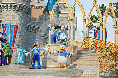 Disney Characters on Stage Editorial Photo
