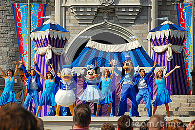Disney Characters on Stage Editorial Photography