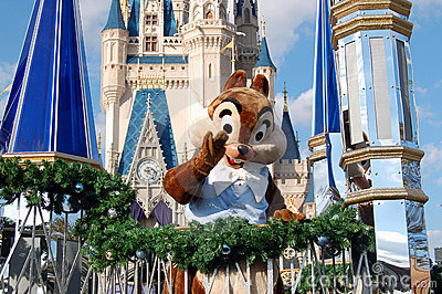 Disney Chip during a parade Editorial Stock Image