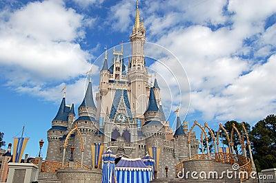 Disney Cinderella castle at Magic Kingdom Editorial Photo