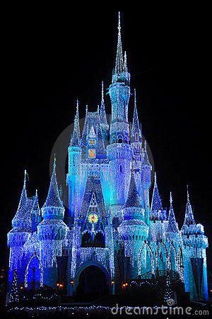 Disney Cinderella Castle at night Editorial Stock Photo