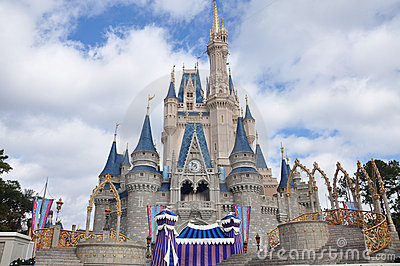Disney Cinderella Castle Walt Disney World Editorial Stock Image