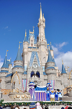 Disney Cinderella Castle Walt Disney World Editorial Photo
