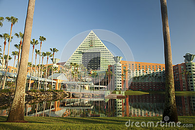 Disney Dolphin Resort at Sunrise Editorial Image