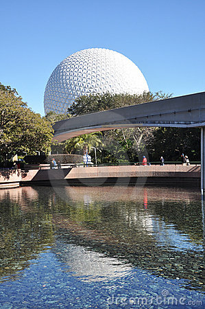 Disney Epcot Center and Monorail Editorial Photography