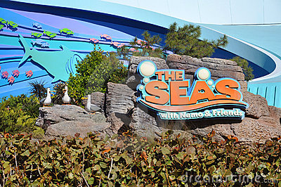 Disney Epcot Center and the Seas Editorial Photo