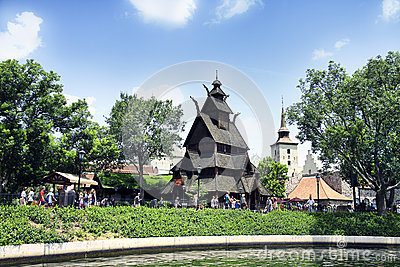 Disney Epcot Florida, norwegian pavilion. Editorial Stock Image