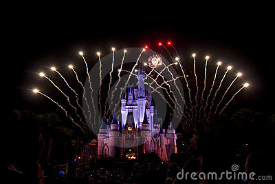 Disney fireworks Editorial Image