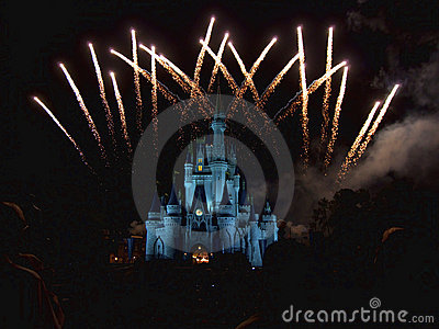 Disney fireworks Editorial Stock Photo