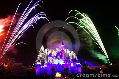 Disney Fireworks Editorial Stock Photo