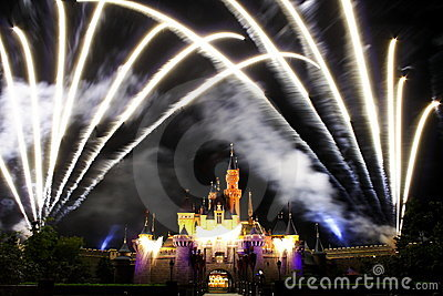 Disney Fireworks Editorial Photography