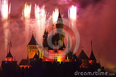 Disney fireworks Editorial Photo