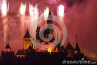 Disney fireworks Editorial Photo