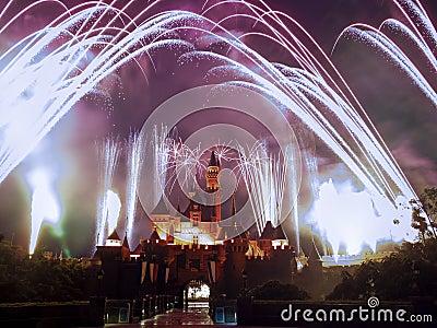 Disney Fireworks Editorial Photography